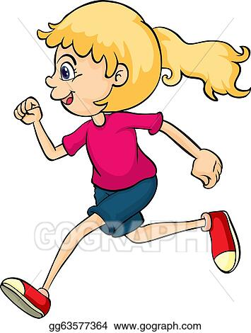 vector stock a running girl clipart illustration gg63577364 gograph rh gograph com girl running clipart black and white running girl clipart free