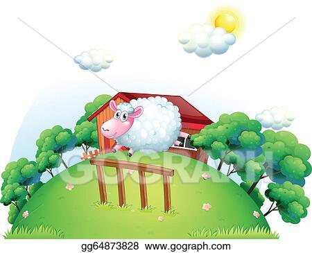 A Sheep At The Barnyard