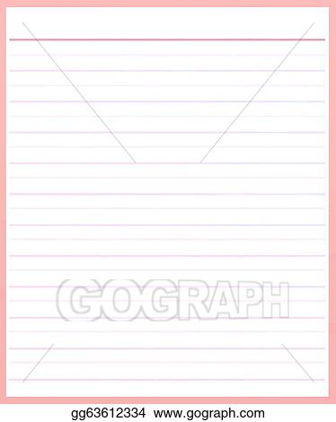 Charming A Sheet Of Pink Color Lined Paper  Color Lined Paper