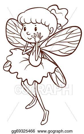 Fairy simple. Vector art a sketch