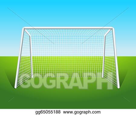 eps vector a soccer goal stock clipart illustration gg65055188 rh gograph com soccer ball and goal clipart soccer goal post clipart