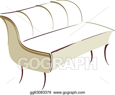 Vector Art A Sofa Clipart Drawing Gg63083379 Gograph