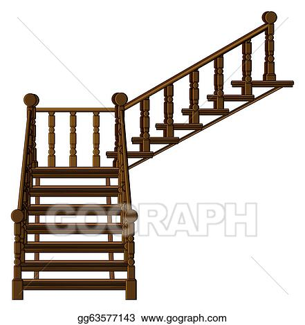 vector art a staircase clipart drawing gg63577143 gograph rh gograph com clip art stairs to heaven clip art stars and stripes