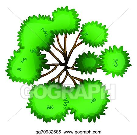 Vector Clipart - A topview of a tree  Vector Illustration
