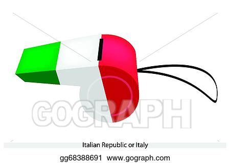 Clip Art Vector A Whistle Of The Italian Republic Or Italy Stock