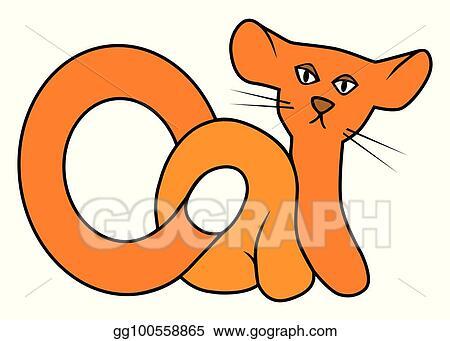 Vector Art A Word Cat Clipart Drawing Gg100558865 Gograph