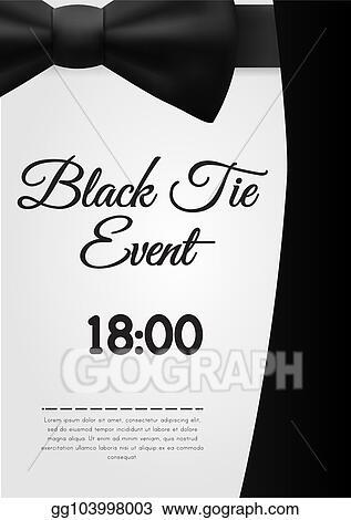 vector stock a4 elegant black tie event invitation template