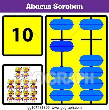 vector stock  abacus soroban kids learn numbers with abacus math  abacus soroban kids learn numbers with abacus math worksheet for children  vector illustration