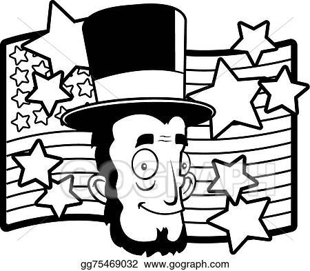 Eps Vector Abe Lincoln Stock Clipart Illustration Gg75469032