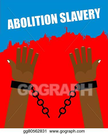 Arm Slave With Broken Shackles Chain Amid Blood Of Slaves