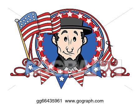 Clip Art Vector Abraham Lincoln Cartoon Vector Stock Eps