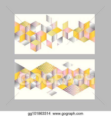 Vector Stock - Abstract 3d illusion geometric mosaic