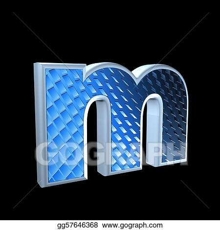 Stock Illustration Abstract 3d Letter With Blue Pattern Texture