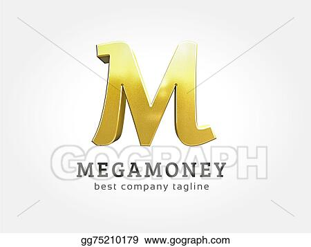 Stock Illustration Abstract 3d M Character Logo Icon Concept
