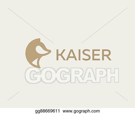 Vector Art Abstract Animal Logo Design Template Dog Wolf