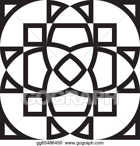 Vector Stock - Abstract arabesque stained glass frame window project ...