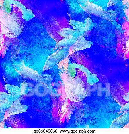Stock Illustration Abstract Avant Garde Blue Purple