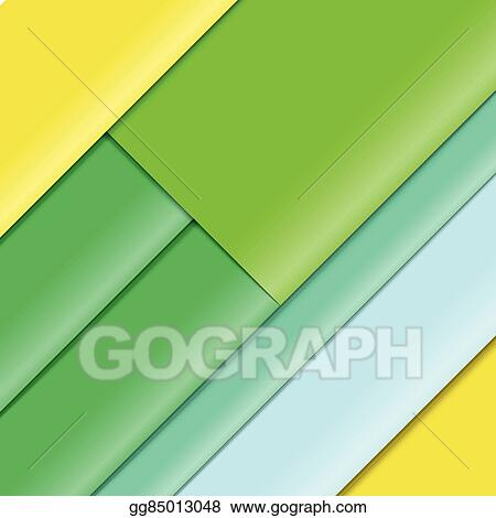 Vector Clipart Abstract Background Of Color Paper Sheets Template