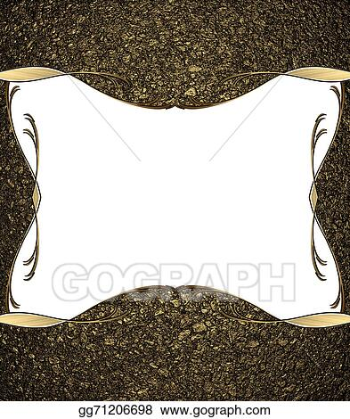 Drawings - Abstract background of golden sand with a white