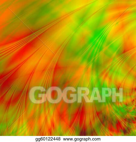 Stock Illustration Abstract Background With Green Red And