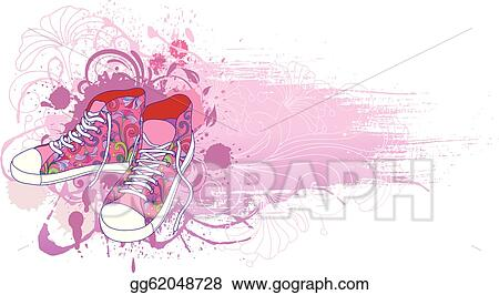 9f17fae02b0e3f Vector Art - Abstract background with sneakers . EPS clipart ...