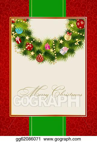 abstract beauty christmas and new year invitation background vector illustration