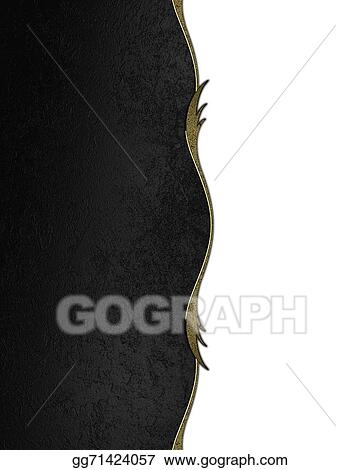 Stock Illustration Abstract Black Background With A Gold