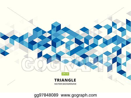 Vector Stock - Abstract blue geometric background with