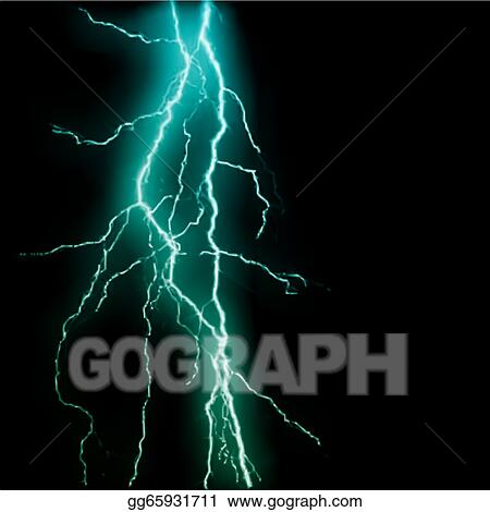Vector Stock Abstract Blue Lightning Flash Background
