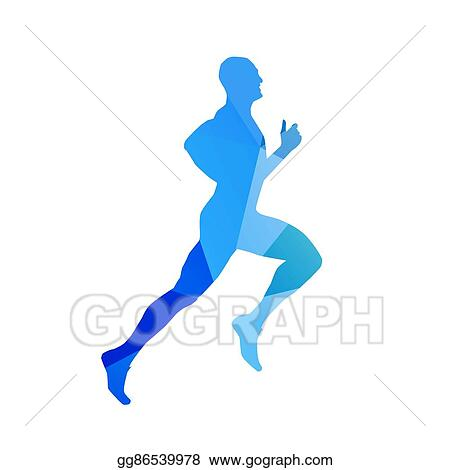 eps illustration abstract blue running man runner vector silhouette profile side view vector clipart gg86539978 gograph https www gograph com clipart license summary gg86539978