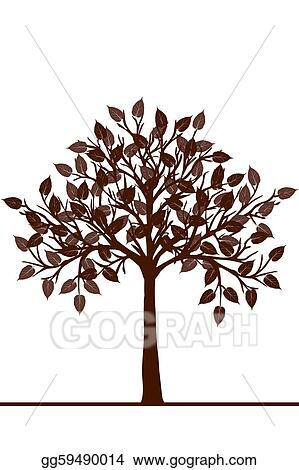 Stock Illustration Abstract Brown Tree Clipart