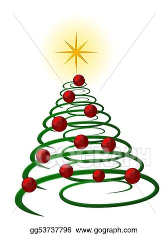 Stock Illustration Abstract Christmas Tree Clipart