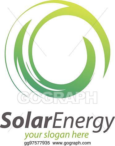Vector Stock - Abstract circle solar technology logo  solar