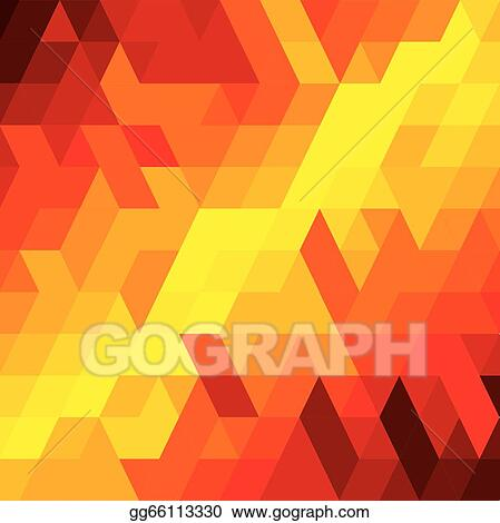 Abstract Colorful Background Of Diamond Cube Square Shapes Vector Graphic This Illustration Consists Various Geometric In Orange Red