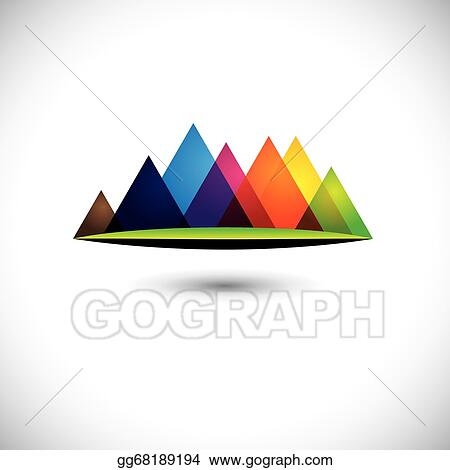 Clipart Abstract Mountains