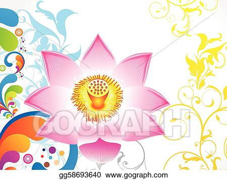 Eps Vector Abstract Colorful Lotus Flower Stock Clipart