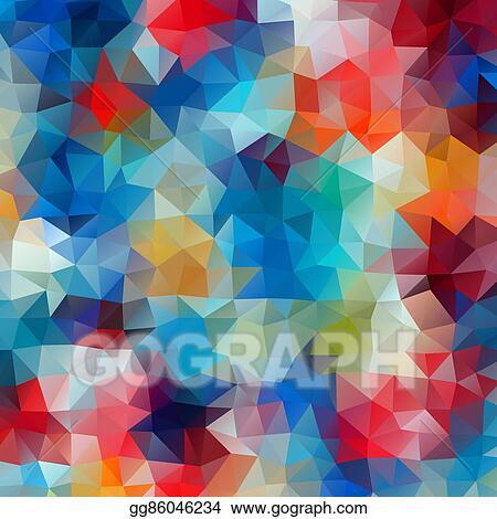 Clip Art Vector Abstract Colorful Retro Geometric
