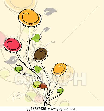 Vector Stock Abstract Colorful Spring Flower Pattern