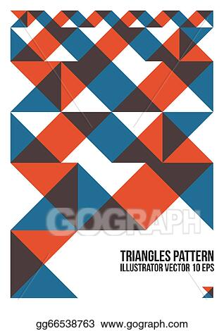 Eps Vector Abstract Colorful Triangle Pattern Background