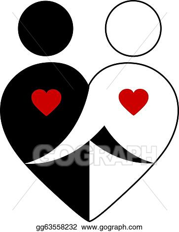 Clip Art Vector Abstract Couple Stock Eps Gg63558232