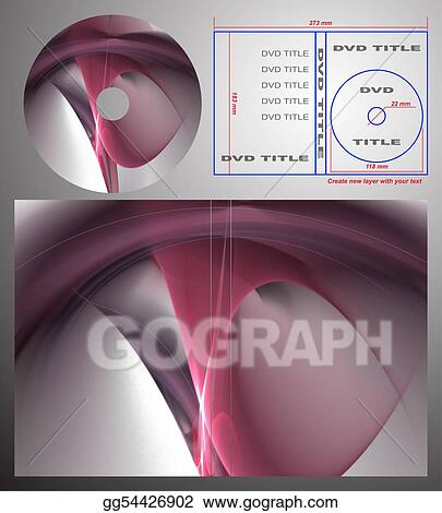 stock illustration abstract design template for dvd label and box