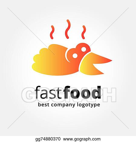 Eps Vector Abstract Fast Food Logo Icon Concept Isolated On White