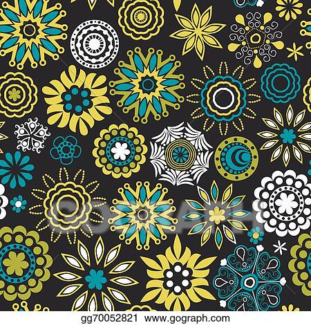 Abstract Floral Background Summer Theme Seamless Pattern Wallpaper Texture Wrapping With Flowers Spring And For Your Design