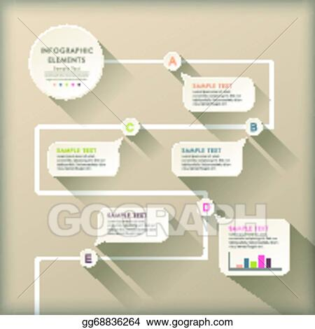 Vector art abstract flow chart infographics clipart drawing abstract flow chart infographics ccuart Image collections