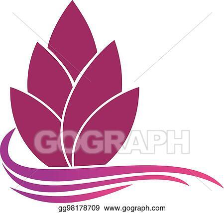 Vector Art Abstract Flower Logo Template Floral Logo Spa