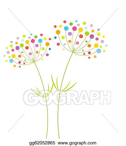 Eps Illustration Abstract Flowers Vector Clipart