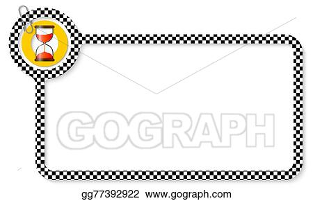 Vector Clipart - Abstract frame for your text with square pattern ...
