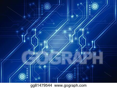 Vector Stock - Abstract futuristic technology circuit board ...