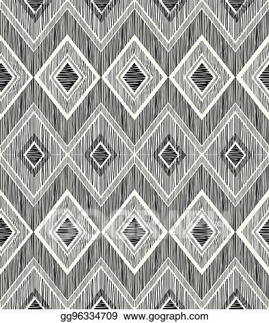 Vector Illustration - Abstract geometric seamless pattern