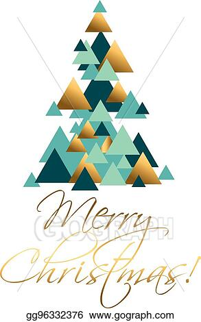 Vector Art Abstract Geometry Concept Christmas Tree Vector